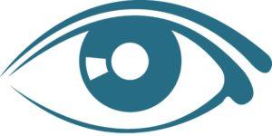 Image d'oeil, symbole de la thérapie EMDR, thérapie par les yeux.